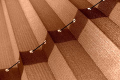 pleated shades - solid blinds